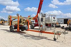 JLG T500J towable boom lift rental at Hendershot Equipment in Stephenville & Decatur, near Fort Worth, TX